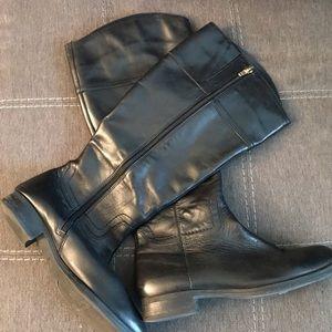 Audrey Brooke Black Riding Boot